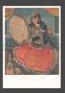 096813 Iranian Miniature XVIII c. Musician Vintage PC