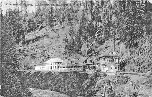 Shasta Springs CA S. P. R. R. Railroad Station Train Depot Postcard