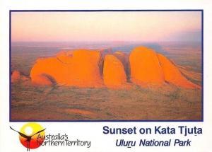 Australia Sunset on Kata Tjuta, Uluru National Park Panorama