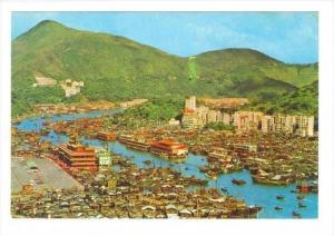 Bird's Eye View Of Aberdeen, Hong Kong, China, 1950-1970s