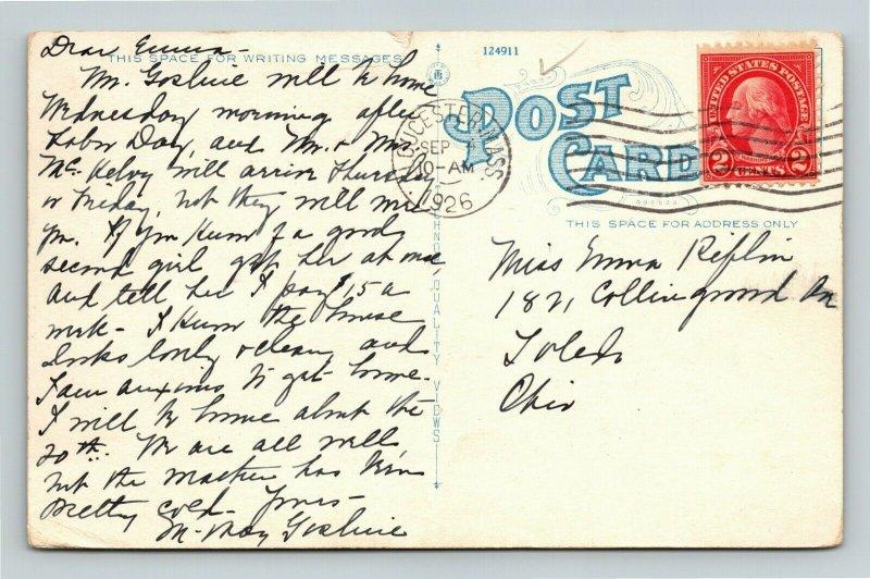 Gloucester MA-Massachusetts, Fishing Boats At Wharf, Vintage c1926 Postcard