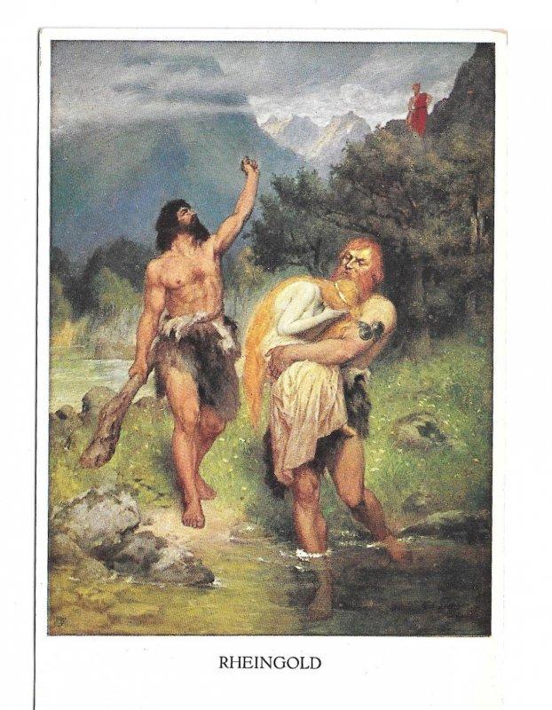 Rheingold Wagner Opera Leeke Painting Austria M Munk M M Vienne No 861 Postcard