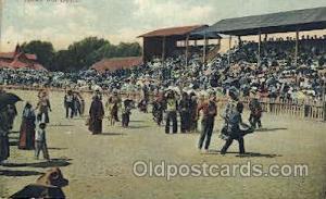 Indian War Dance Western Cowboy, Cowgirl Postcard Postcards  Indian War Dance