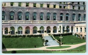 SAN FRANCISCO, California CA ~ FAIRMONT HOTEL & LAWN ca 1910s  Postcard