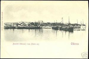 ukraine russia ODESSA, Panorama from the Sea (ca. 1899)