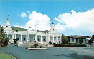 HONOLULU HAWAII HONPA HONGWANJI HAWAII BETSUIN BUDDHIST TEMPLE POSTCARD c1960s