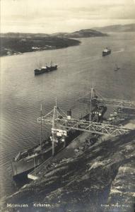 norway norge, KIRKENES, Malmkaien, Steamers (1928) RPPC