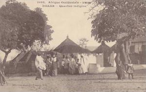 Senegal, 00-10s : DAKAR .- Quartier indigene