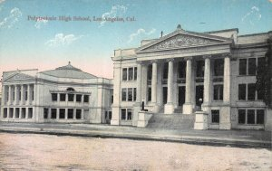 Polytechnic High School, Los Angeles, California, Early Postcard, Used