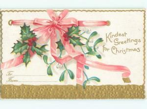 Divided-Back CHRISTMAS SCENE Great Postcard W9141