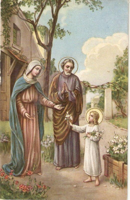 The Holy Family Lovely Spanish religious PC 19430s
