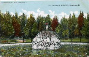 The Lily Pond in Miller Park - Bloomington IL, Illinois - DB