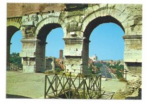 Italy Rome Postcard View from the Colosseo 4X6