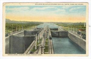 Gatun Locks, Looking North, Panama Canal , 1910s