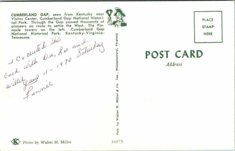 CUMBERLAND GAP, Kentucky ~ National Historic Park Tennessee Virginia Postcard