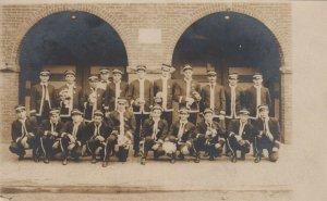 RP: SUNBURY , Pennsylvania, 1900-10s ; Uniformed Men