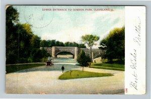 Cleveland OH-Ohio, Lower Entrance To Gordon Park Vintage c1908 Postcard