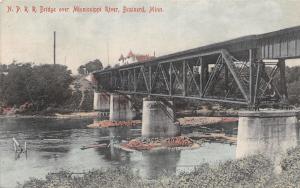Brainerd MN~NPRR Northern Pacific Railroad Bridge~Mississippi River~1908 SL&Co