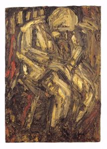 Postcard Art FATHER SEATED IN ARMCHAIR (1960) by Leon Kossoff MU2161 #72