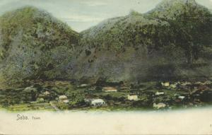 netherlands antilles, SABA, Town View (1899)