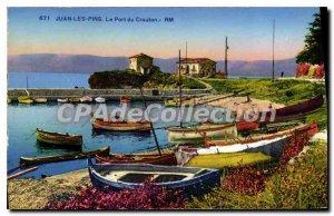 Old Postcard Juan Les Pins The Port du Crouton