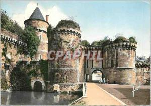 Modern Postcard Chateau de Fougeres L and V Door Notre Dame