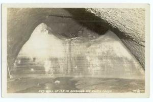 RPPC, End Wall of Ice in Shoshone Ice Caves in Idaho ,ID, AZO(squares in corner