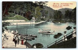 Postcard WV Chester The Lake Rock Springs Park Near East Liverpool Ohio