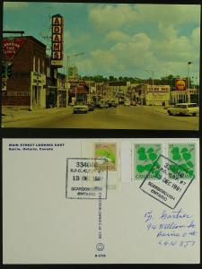 Main Street-Barrie Ont circa 1960s pmkd 1991