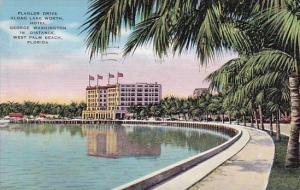 Florida West Palm Beach Flagler Drive Along Lake Worth Hotel George Washingto...