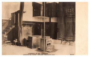 London ,  Newgate Prison ,  Interior Chapel showing Condemned Seat,  RPC