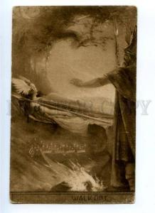 176273 WAGNER OPERA Valkyrie WALKURE ART NOUVEAU Vintage Sepia