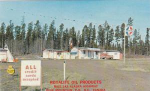 Royalite Oil Products & Coffee Shop , Mile 143 Alaska Highway , PINK MOUNTAIN...