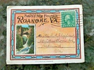 ROANOKE VIRGINIA~19 IMAGES~1924 SOUVENIR FOLDER POSTCARD