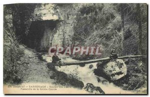 Old Postcard Dauphine Sassenage the Cave Trail tanks Gateway Carree