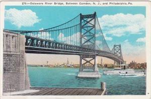 Pennsylvania Philadelphia Delaware River Bridge Beteen Camden New Jersey And ...