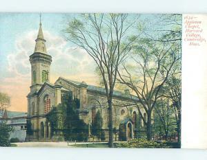 Pre-1907 HARVARD COLLEGE CHAPEL Cambridge - Boston Massachusetts MA AD2223