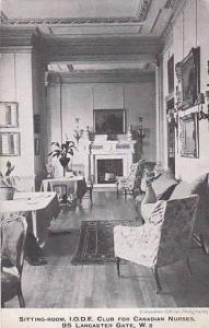 I.O.D.E. Club for Canadian Nurses, London , England , 1910s ; Sitting Room