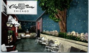 Chicago IL Postcard CHEZ PAREE French Restaurant 610 Fairbanks Court KROPP Linen