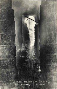 West Rutland VT Marble Co Quarry c1950 Real Photo Postcard
