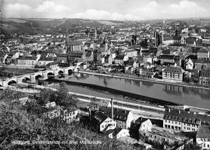 Wuerzburg Gesamtansicht mit alter Mainbruecke, Bridge River Pont Panorama