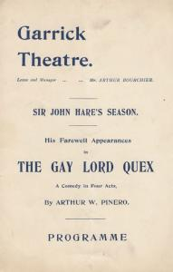 Sir John Hare Farwell Performance of The Gay Lord Quex Comedy Garrick Theatre...