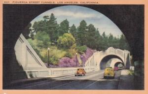 California Los Angeles Figuero Street Tunnels 1949