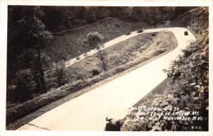 Macomber West Virginia~US Route 50 U Turn on Laurel Mt~30s Cars Driving~RPPC