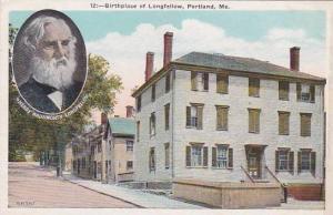 Maine Portland Birthplace Of Longfellow
