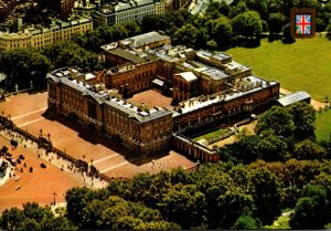England London Buckingham Palace Aerial View