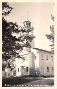 Real Photo Church in New London New Hampshire Antique Postcard L67