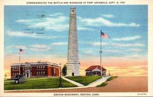 Connecticut Groton Groton Monument Commemorates The Battle & Massacre At Fort...