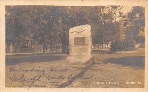 Olathe Kansas~Public Square~Gazebo~Unloading Point Santa Fe Trail~1909 RPPC