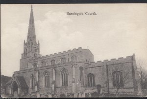 Northamptonshire Postcard - Nassington Church    RT1194